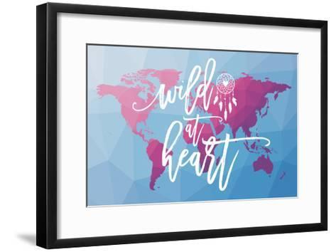 Geo Map Boho I-Moira Hershey-Framed Art Print