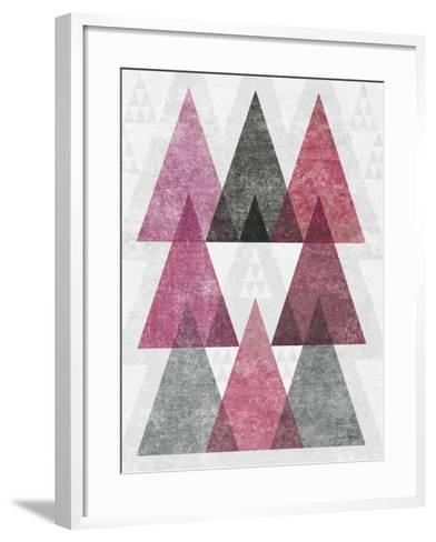 Mod Triangles IV Soft Pink-Michael Mullan-Framed Art Print