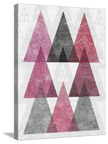 Mod Triangles IV Soft Pink-Michael Mullan-Stretched Canvas Print