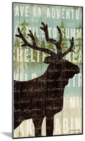 Simple Living Elk Script-Michael Mullan-Mounted Art Print