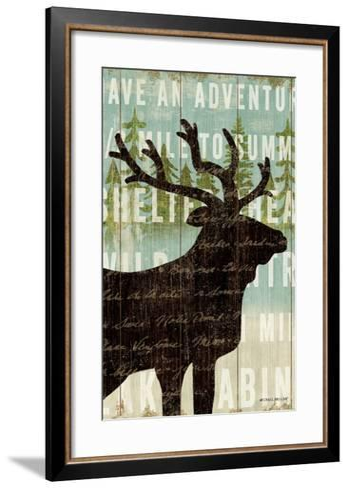 Simple Living Elk Script-Michael Mullan-Framed Art Print