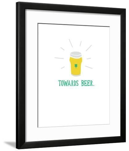 St Pattys Beer II-Michael Mullan-Framed Art Print