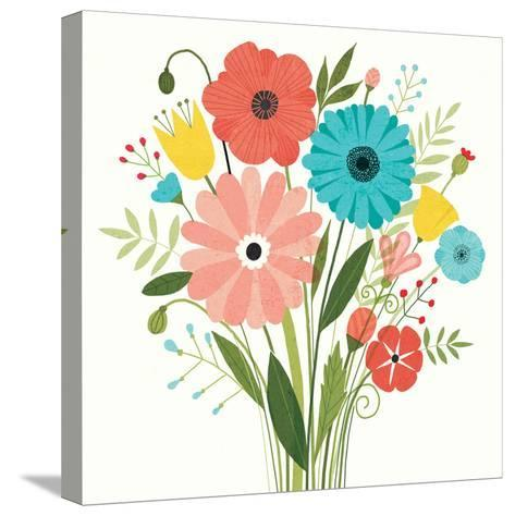 Seaside Bouquet II-Michael Mullan-Stretched Canvas Print