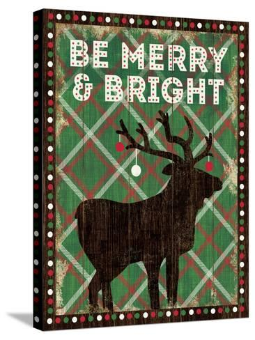 Simple Living Holiday Be Merry-Michael Mullan-Stretched Canvas Print