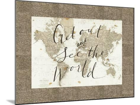 Get Out and See the World Border-Sara Zieve Miller-Mounted Art Print