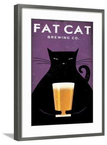 Cat Brewing no Words-Ryan Fowler-Framed Art Print