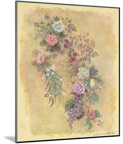 Fruit and Flowers-Naomi McBride-Mounted Art Print