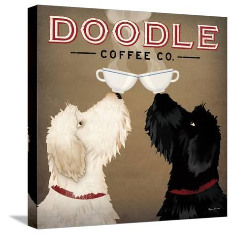 Doodle Coffee Double IV-Ryan Fowler-Stretched Canvas Print