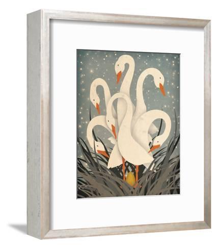 Six Geese A Laying-Ryan Fowler-Framed Art Print