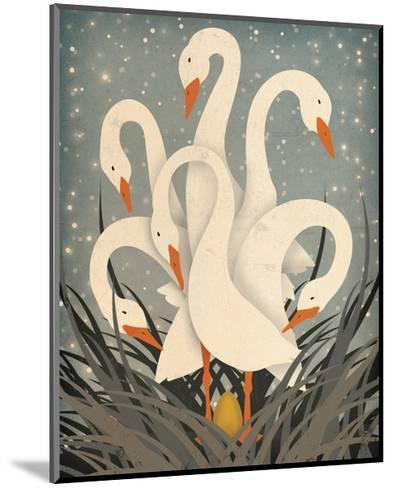 Six Geese A Laying-Ryan Fowler-Mounted Art Print