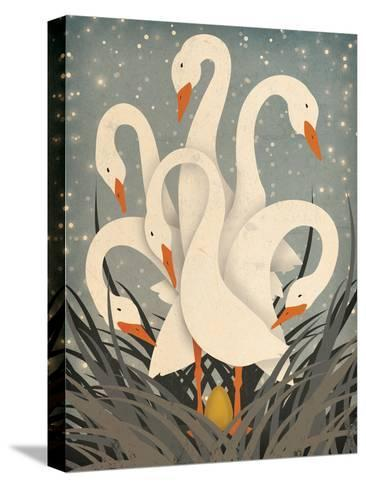 Six Geese A Laying-Ryan Fowler-Stretched Canvas Print