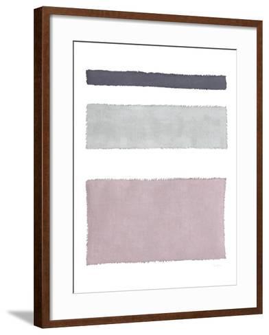 Painted Weaving IV on White-Piper Rhue-Framed Art Print