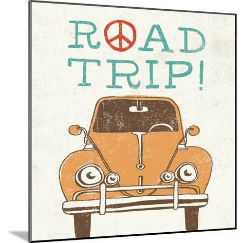Road Trip Beetle Retro-Oliver Towne-Mounted Art Print