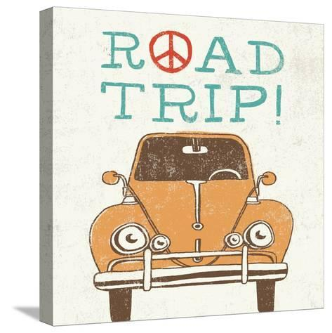Road Trip Beetle Retro-Oliver Towne-Stretched Canvas Print