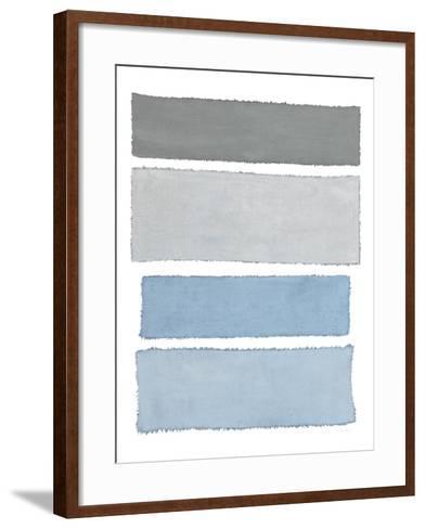 Painted Weaving I on White-Piper Rhue-Framed Art Print