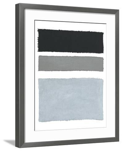 Pained Weaving II on White-Piper Rhue-Framed Art Print