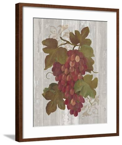 Autumn Grapes I on Wood-Silvia Vassileva-Framed Art Print