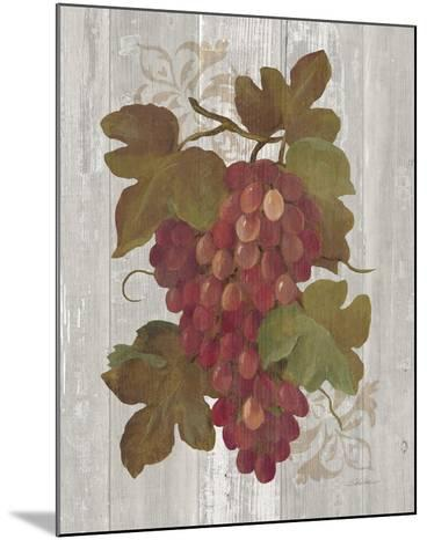 Autumn Grapes I on Wood-Silvia Vassileva-Mounted Art Print