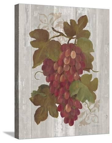 Autumn Grapes I on Wood-Silvia Vassileva-Stretched Canvas Print