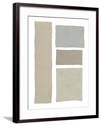 Painted Weaving III on White-Piper Rhue-Framed Art Print