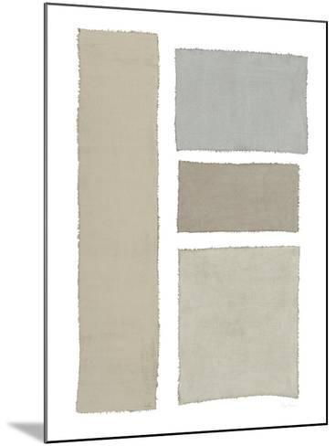 Painted Weaving III on White-Piper Rhue-Mounted Art Print