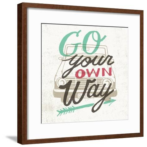 Road Trip Go Your Own Way-Oliver Towne-Framed Art Print