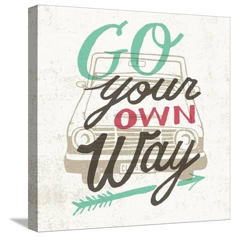 Road Trip Go Your Own Way-Oliver Towne-Stretched Canvas Print
