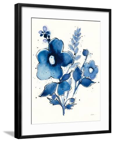 Independent Blooms Blue IV-Shirley Novak-Framed Art Print