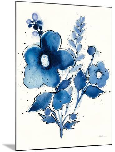 Independent Blooms Blue IV-Shirley Novak-Mounted Art Print