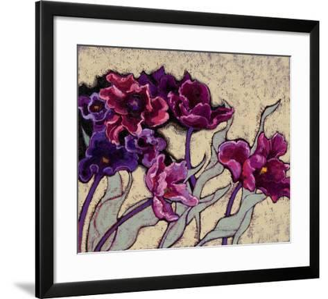 Ruffled Tulips Beige-Shirley Novak-Framed Art Print
