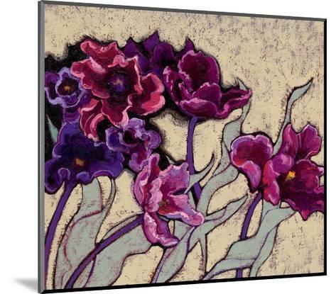 Ruffled Tulips Beige-Shirley Novak-Mounted Art Print