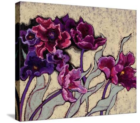 Ruffled Tulips Beige-Shirley Novak-Stretched Canvas Print