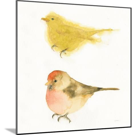Watercolor Birds I Sq-Shirley Novak-Mounted Art Print