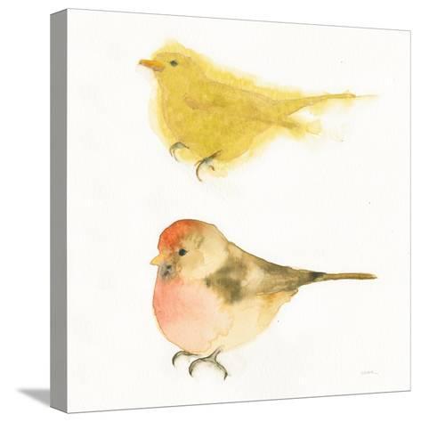 Watercolor Birds I Sq-Shirley Novak-Stretched Canvas Print