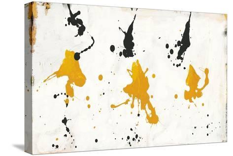 Abstract Background V Gold and Black-Roque Silva-Stretched Canvas Print