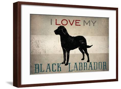 Labrador - I Love My Lab  II-Ryan Fowler-Framed Art Print