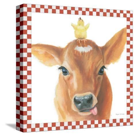 Farm Friends III Border-Myles Sullivan-Stretched Canvas Print