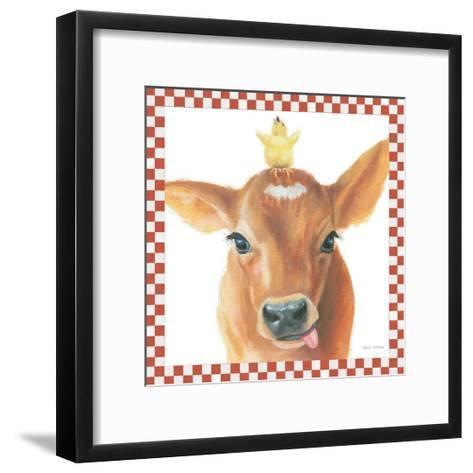 Farm Friends III Border-Myles Sullivan-Framed Art Print
