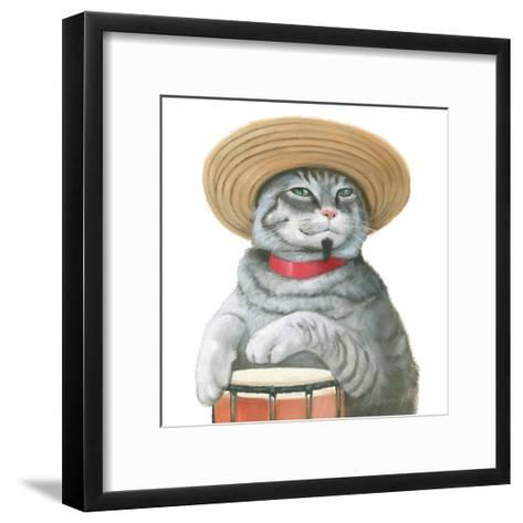 Cattitude II-Myles Sullivan-Framed Art Print