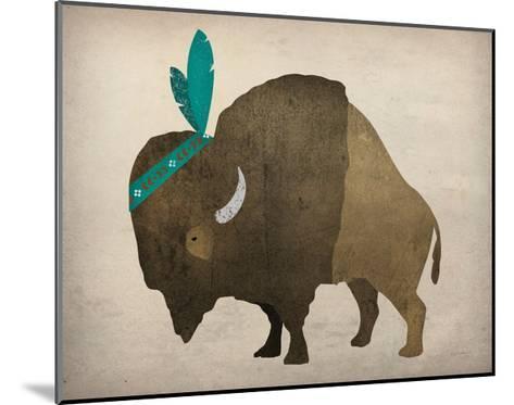 Buffalo Bison III-Ryan Fowler-Mounted Art Print