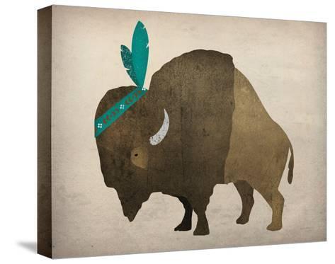 Buffalo Bison III-Ryan Fowler-Stretched Canvas Print