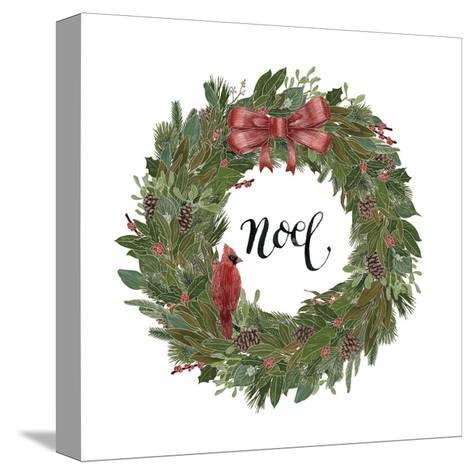 Woodland Wreath IV-Sara Zieve Miller-Stretched Canvas Print