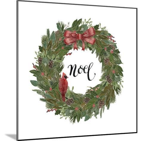 Woodland Wreath IV-Sara Zieve Miller-Mounted Art Print