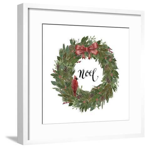 Woodland Wreath IV-Sara Zieve Miller-Framed Art Print
