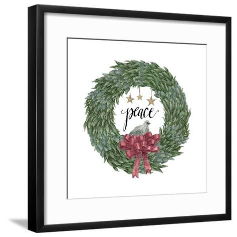 Woodland Wreath III-Sara Zieve Miller-Framed Art Print