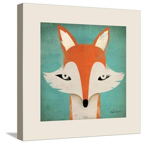 Fox with Border-Ryan Fowler-Stretched Canvas Print
