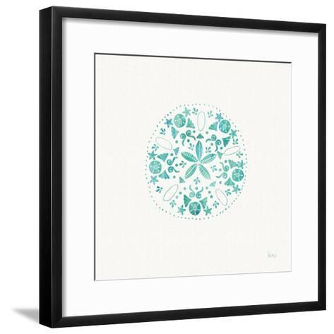 Sea Charms II Teal no Words-Veronique Charron-Framed Art Print