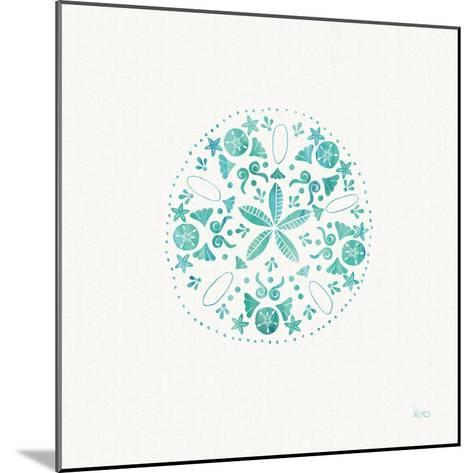 Sea Charms II Teal no Words-Veronique Charron-Mounted Art Print