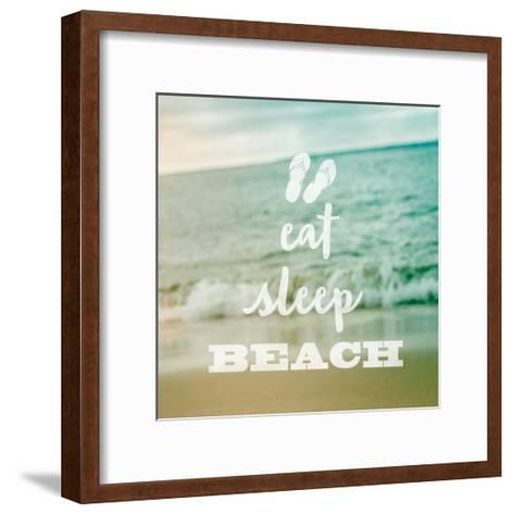 Eat Sleep Beach-Sue Schlabach-Framed Art Print