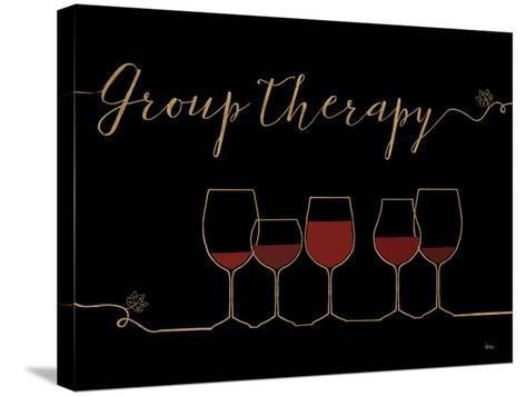 Underlined Wine IX Black-Veronique Charron-Stretched Canvas Print